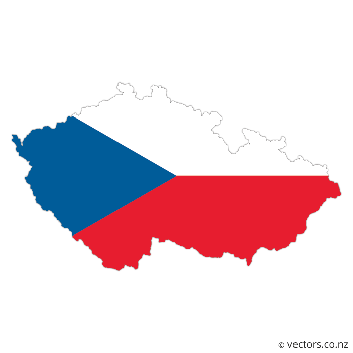 Flag_Map_Of_The_Czech_Republic