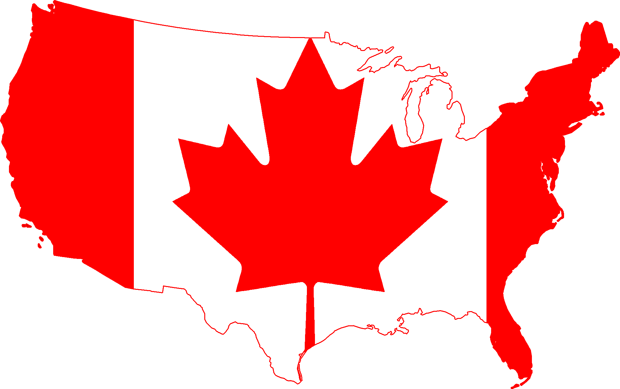 description-flag-map-of-the-united-states-canada-png-u5kTnT-clipart